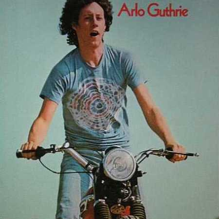 Arlo Guthrie on motorcycle