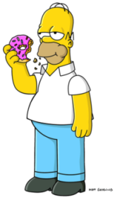 homer simpson and donut
