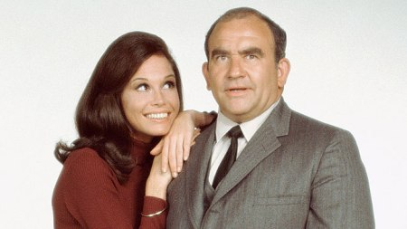 Mary Tyler Moore and Ed Asner
