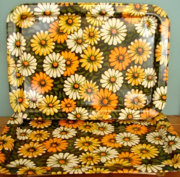 flowered tray