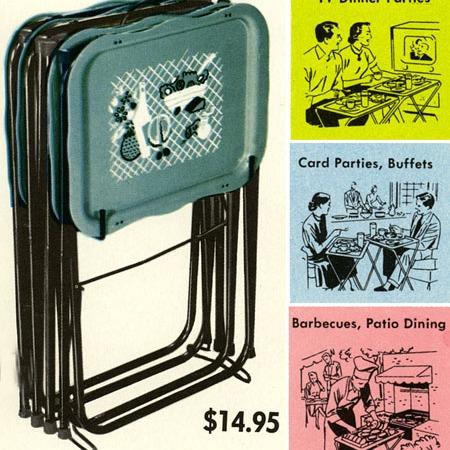 vintage TV trays