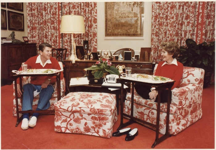 reagans and tv trays