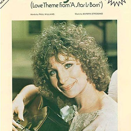 Barbra Streisand Evergreen sheet music cover