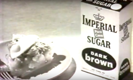 Imperial sugar box with slice of pie