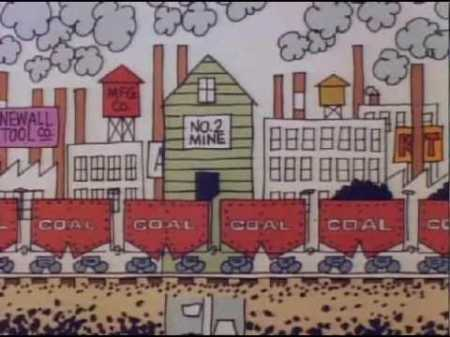 cartoon of coal