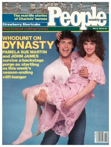 People magazine cover with John James and Pamela Sue Martin