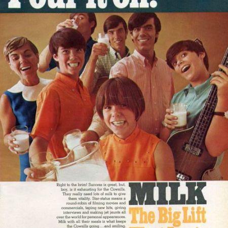Cowsills milk ad