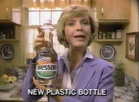 Florence Henderson holds bottle of Wesson