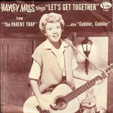 Hayley Mills record jacket Let's Get Together