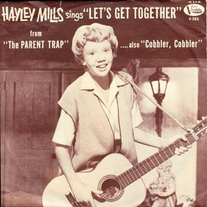 Hayley Mills record jacket Let's Get Together