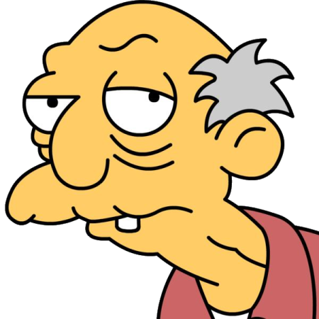 old man from Simpsons
