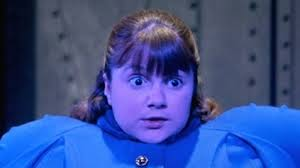 Violet Beauregard turns into a blueberry in Willy Wonka and the Chocolate Factory