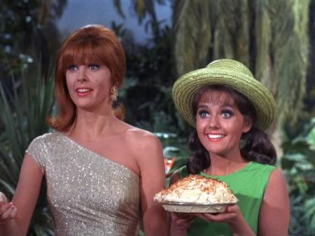 Ginger and Mary Ann with coconut cream pie