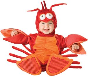 kid in lobster costume