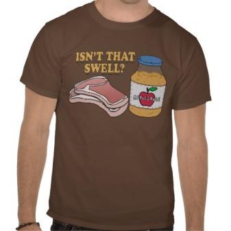 pork chops and apple sauce t-shirt