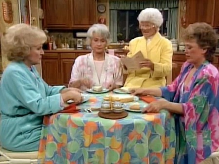 Golden Girls eating cheesecake