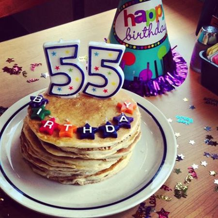 pancakes with birthday candles