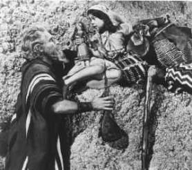 Kathy Garver and Charlton Heston in The Ten Commandments