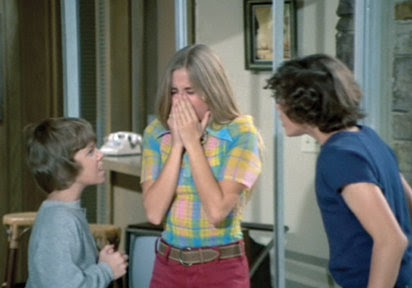 marcia brady covering nose