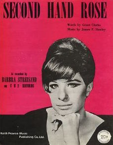 sheet music cover Barbra Streisand Secondhand Rose