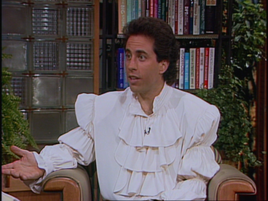 Seinfeld wears puffy shirt