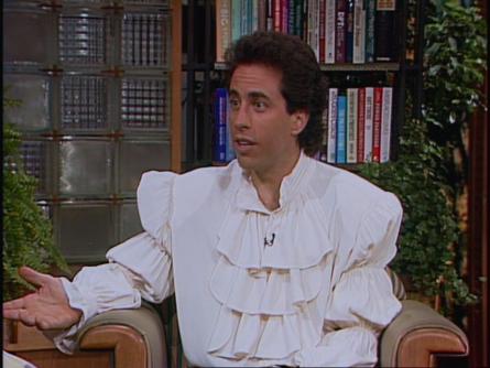 Seinfeld wears puffy shirt