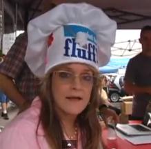 Susan Olsen in Fluff hat