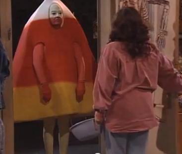 Roseanne meets Ghost of Halloween Present
