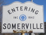 Entering Somerville sign
