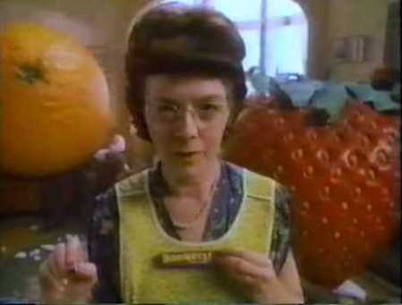 Bonkers commercial lady