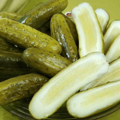 cut pickles