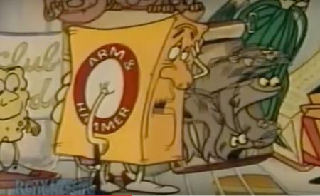 Arm & Hammer baking soda cartoon