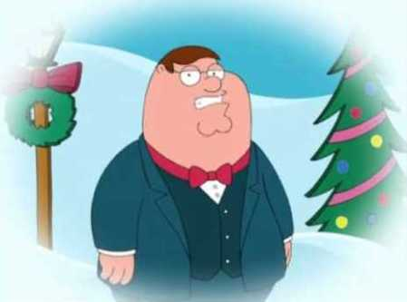 Peter Griffin winter scene