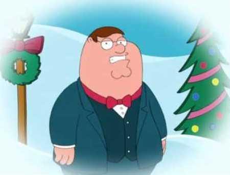 Peter Griffin winter scene