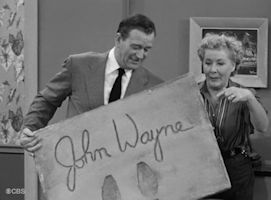 Ethel and John Wayne