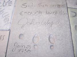 John Wayne's footprints
