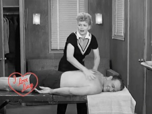 Lucy massages John Wayne