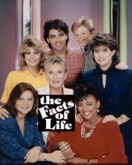 Cloris Leachman with Facts of Life cast