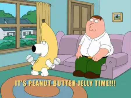 Family Guy Brian in banana suit