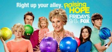 Cloris Leachman with Raising Hope cast