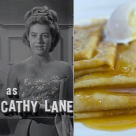 Patty Duke as Cathy Lane and crepes suzette