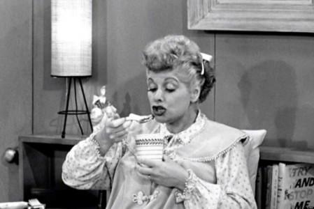 Lucy eats sardines