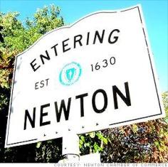 Newton, Mass. sign