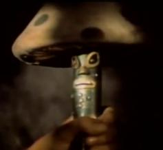 Freddy the Flute as a mushroom