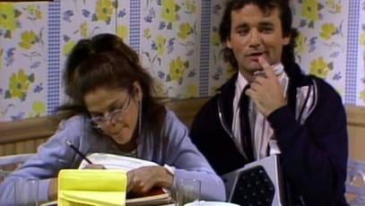 Gilda Radner and Bill Murray as Lisa Loopner and Todd