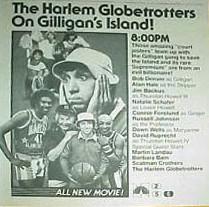 Harlem Globetrotters on Gilligans Island ad