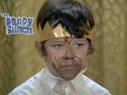 Bobby Brady with ice cream on his face