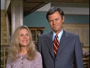 Elizabeth Montgomery and Dick Sargent as Samantha and Darrin