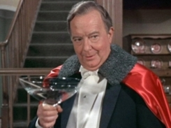 Maurice with giant martini glass