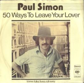 Record cover, 50 Ways to Leave Your Lover